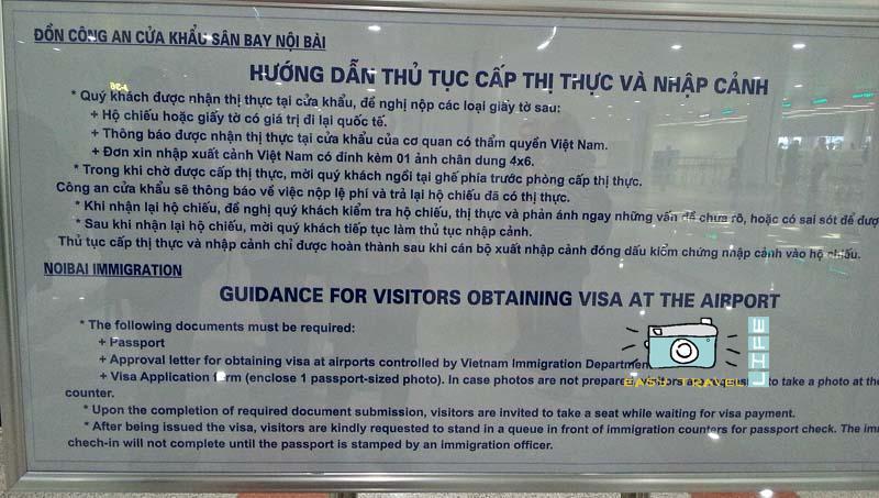 visa vietnam airport
