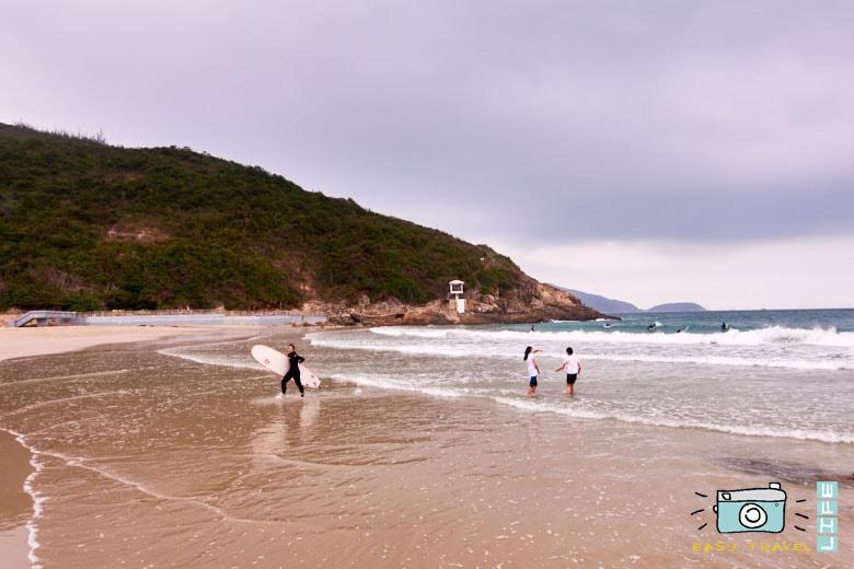 Deep water beach