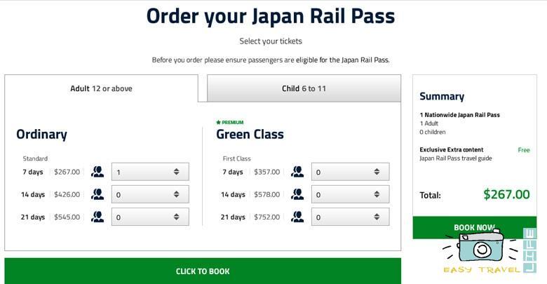 JR Pass cost
